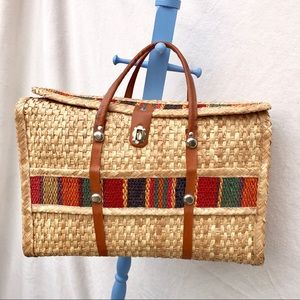 Handbags - Extra Large straw beach shopping bag tote